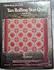 "Rolling Star Quilt Kit Precut Yours Truly 84"" x 104"" Top Tan Rust White NIB USA"