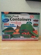 New listing Gourmet Trends Always Fresh Containers, 10 pc set (five w/lids) Nib