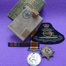 More details for original 1914 ww1 princess mary christmas tin plus medal badge,,,