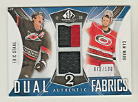 2009-10 SP GAME USED DUAL AUTHENTIC FABRICS RELIC ERIC STAAL & CAM WARD 72/100