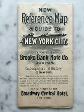 1885 Broadway Central Hotel NYC New York City SUBWAY Transit 14x22 folding MAP