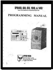 Ipso Commercial Washers Programming Manual For Models Iph