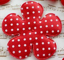 """100! XXL Padded Polka Dot Flowers - Red Flower - 65mm/2.5"""" - Slightest Seconds"""