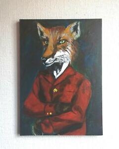 Head Huntsman , Original  Artwork, OOAK Painting,   Foxhunting interest Painting