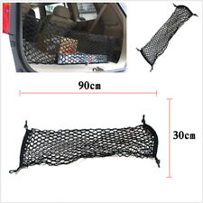 1XCar Trunk Rear Cargo Organizer Storage Elastic Mesh Net Holder 4 Hooks 90x30cm