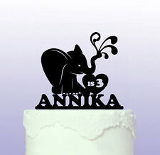 Sweet Elephant Personalised Cake Topper