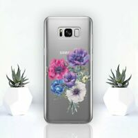 Flowers Samsung Galaxy S8 S9 S10 Plus Cover Floral Cute Samsung S7 S6 Edge Clear