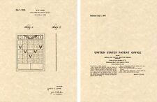 1942 BINGO CARD US Patent Art Print READY TO FRAME!!!! Lowe board game