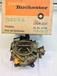 NOS ROCHESTER 4GC CARBURETOR 7025122 1959-1965 CHEVY 283-327-350 ENGINES