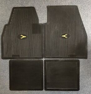 1955-1962 Plymouth Dodge DeSoto Chrysler Imperial Floor Mats Set BLACK