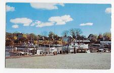 Camden Maine Me Harbor's Public Landing Boats Vintage Postcard