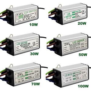 LED Treiber Trafo 10W 20W 30W 50W 70W 100W AC85-265V Led Netzteil Transformator