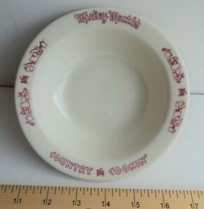 MIckey Mantle Country Cookin Restaurant Small Bowl 1960's  - FLASH SALE