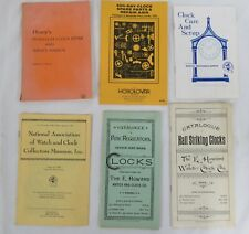 6 Vintage Clock Pb Books: Repair Guides, Parts, Trends, All Great See Details!