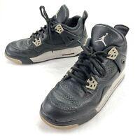 Nike Air Jordan 4 IV Retro GS Youth Oreo Black Grey Cement 408452-003 • Size 6Y