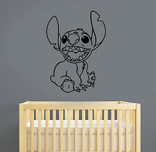 Stitch Wall Sticker Removable Vinyl Decal Disney Cartoon Art Nursery Decor lis3
