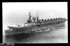 USS Wright CVL-49  postcard US Navy ship aircraft carrier