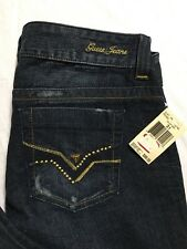 Guess Jeans Daredevil Size 31 Bootcut Slim Fit Low Rise Distressed Denim NWT