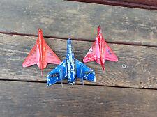 Lot of 3 Vintage Tootsietoy Made in Usa Navy Jets - F7U Cutlass + 2 F40 Sky Rays