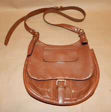 Authentic LONGCHAMP Paris, Cross Body Bag, Brown, Genuine Leather, Made in Franc