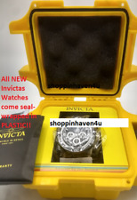 Invicta Men's Pro Diver 200m Stainless Steel Chronograph Black Dial Watch 23696