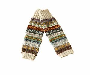 Damen Wollstulpen Beinstulpen Fußstulpen Stulpen Legwarmer Boot Toppers NW