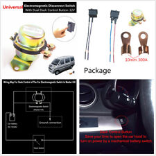 Universal DC12V Car Power Main Switch Control Kit Battery On/Off Latching Button