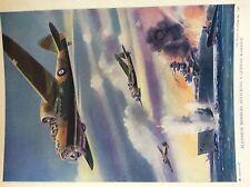m17a4 ephemera 1920s book plate r a f blenheim bombers attack a german warship