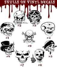 Skull Vinyl Decal Sticker Car Window Skeleton Cranium Braincase Death Head Bonds