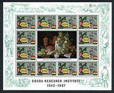 Ghana 323-6 MNH Ghana's Cocoa production 1968 Cocoa beans tree Microscope x23344