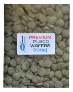 Premium Pleco Oak Wafer Tropical Fish Food Pleco, L no, bottom feeder etc [100g]