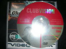 RARE Club Vision Oct 2004 Exclusive Promo Only Music Videos VJ Pro Series DVD