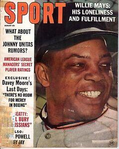1963 AUGUST Sport Magazine Baseball, Willie Mays, San Francisco Giants POOR