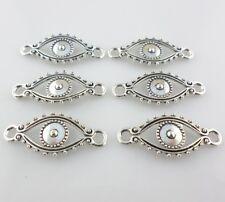 15pcs Tibetan Silver Charms Evil Eye Connectors Pendant fit DIY Bracelet