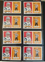 Lot of x8 TOM BRADY 2002 Topps Heritage #50 Yellow/Red - Patriots SP Buccaneers