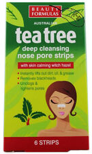 TEA TREE NOSE DEEP CLEANSING NOSE PORE 6 STRIPS BLACKHEAD REMOVAL - 011327