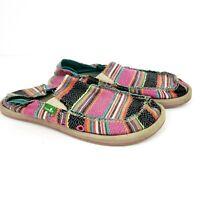Sanuk Womens Size 5 Multi Colored Slip On Sidewalk Surfer Yoga Comfort Shoes