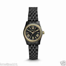 Michael Kors Petite Lexington MK3299 Black Ion Plated Michael Kors Quartz Watch