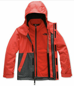 North Face Boys Vortex Triclimate Hooded Waterproof 3 in 1 Jacket XL 18/20