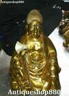 50cm Big Tibet Bronze Seat Buddhism Protector Deity Buddha Hatchet Axe Statue