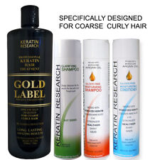 Gold Label Keratin Hair Treatment 1000ml XL Kit for Domincan and African Hair