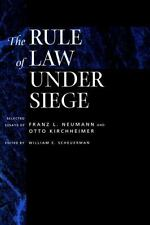 Weimar and Now German Cultural Criticism: The Rule of Law under Siege :...
