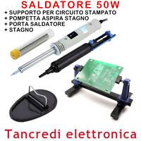 SALDATORE 230V 50W SUCCHIA STAGNO PORTASALDATORE ZD-715L SALDATURA SUPPORTO PCB