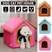Foldable Warm Soft Dog House Pet Bed Tent Cat Kennel Portable Puppy Mat  //