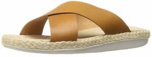 New Women's Tommy Bahama Slide Sandal Ilidah Wood Leather 8 M