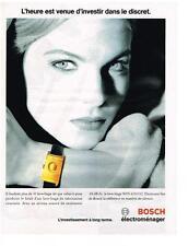 PUBLICITE ADVERTISING  1993   BOSCH   machine à laver lave linge