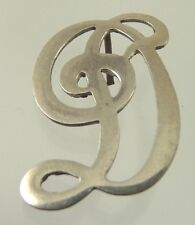"MONOGRAM LETTER  ""D"" FOR APPLYING TO CLOTH OR LEATHER IN STERLING SILVER RODEN f"