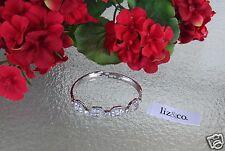 "Liz Claiborne & Co. Silvertone Faceted Crystal Bracelet New 7 1/2"""