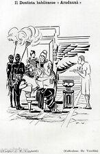 IL DENTISTA BABILONESE. Odontoiatria. Medicina. Dentiste. Dentist. Zahnarzt.1929