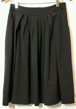 "Talbots women skirt pleat front black lined cotton rayon career 29"" waist Sz 2"